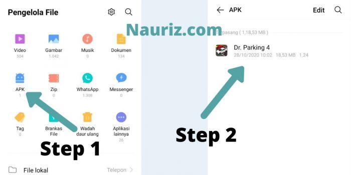 Step 1 - 2 - cara mengirim aplikasi lewat wa