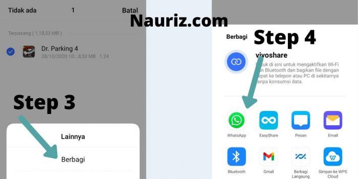 Step 3 - 4 - cara mengirim aplikasi lewat wa
